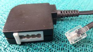 RJ11 Stecker auf TAE F/N Buchse Adapter