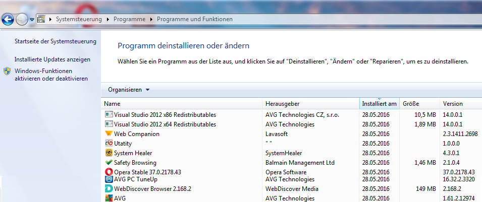 Installiert wurde alles, ausser der Adobe Reader