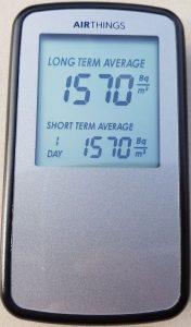Corentium Home von AirThings, Radon-Gas-Detektor,
